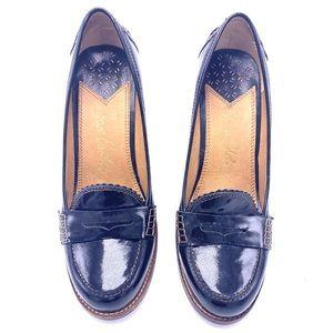 Sam Edelman Janis patent leather loafer heels
